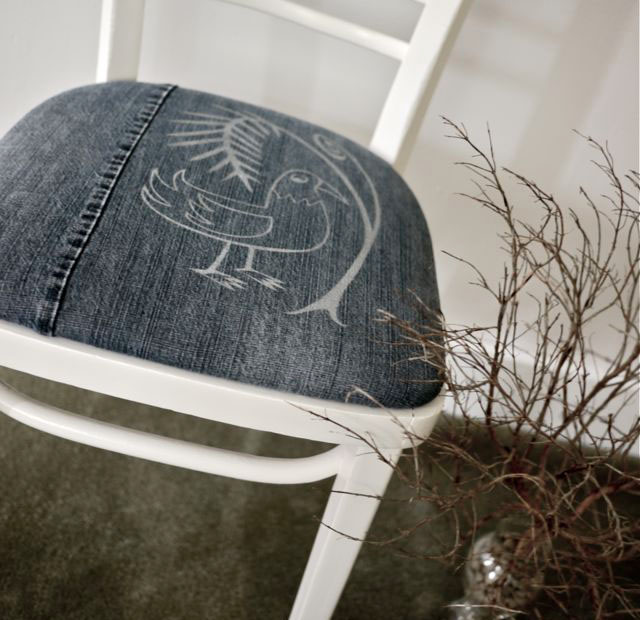 Новая обивка для стула из ст…