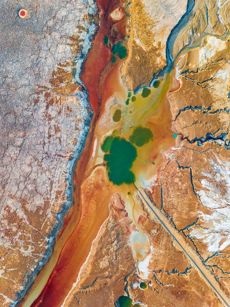 Тромб в артерии Израиль, игра красок, красота, мертвое море, пейзажи, с высоты птичьего полета, фото, фотогра