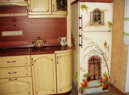 Как сделать декупаж холодильника своими руками