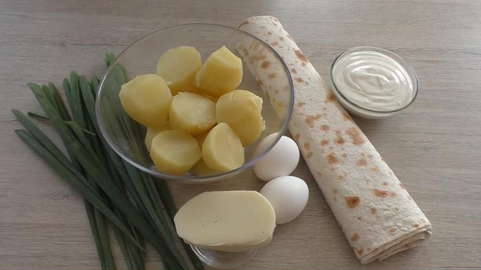 Пирог с картошкой из лаваша Кулинария, Рецепт, Лаваш, Другая кухня, Начинка, Видео, Длиннопост