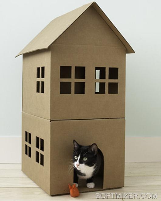 Дом для котенка своими руками фото