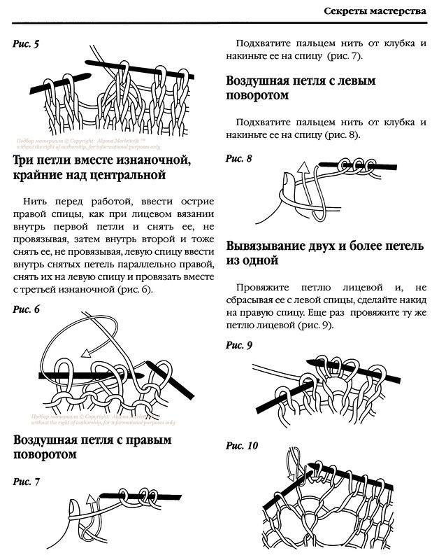 Вязание спицами как провязывать если в схеме нет петли