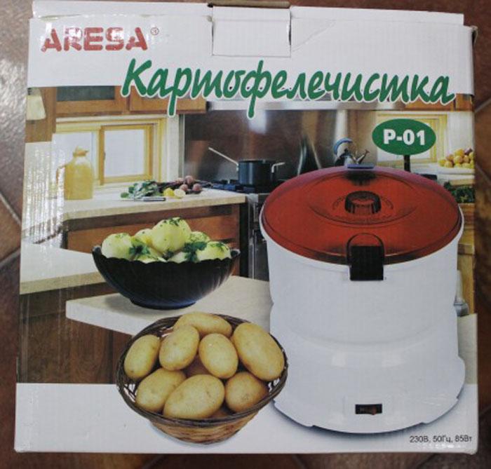 Овощечистка картофелечистка электрическая домашняя Aresa P 01 нож машинка для чистки картофеля