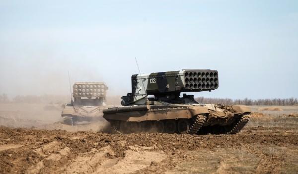 Российский спецназ иТОС-1А помогают сирийской армии добивать боевиковИГ