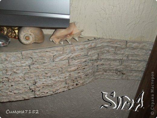 Мастер-класс Папье-маше Процесс декорирования стены камнем из бумаги Бумага фото 10