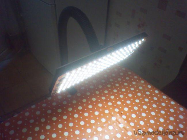 Настольный светильник своими руками из светодиодной ленты