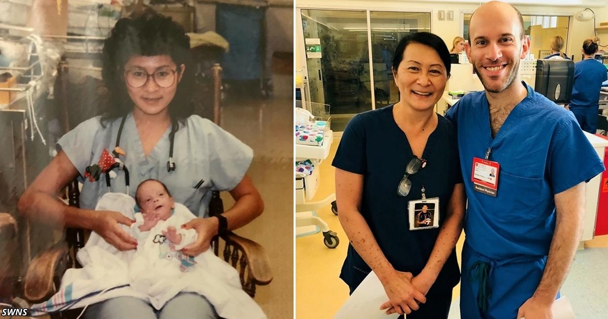 Медсестра узнала в своём коллеге малыша, которого спасла 28 лет назад