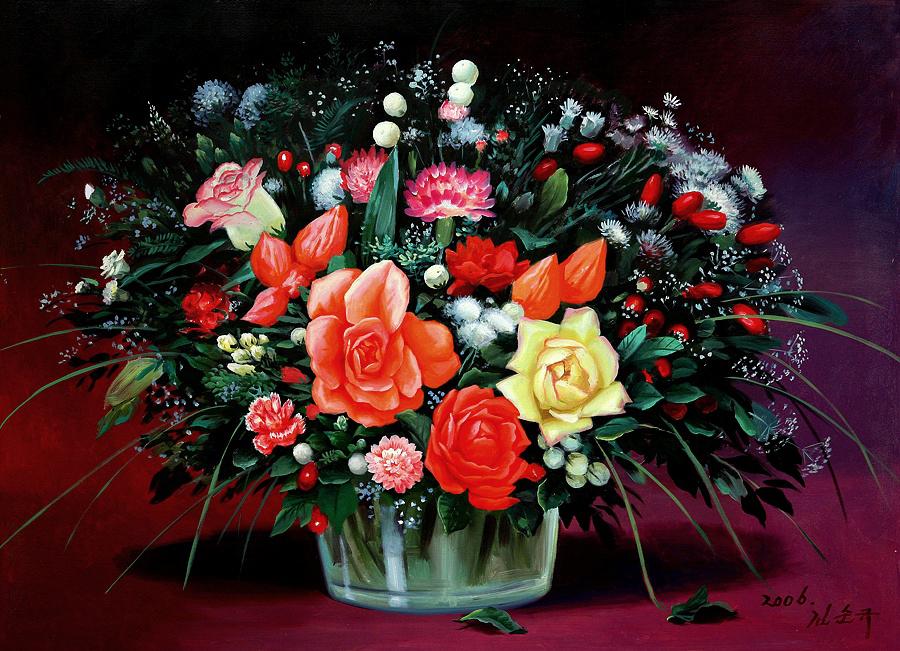 Цветы и натюрморты в живописи корейских художников