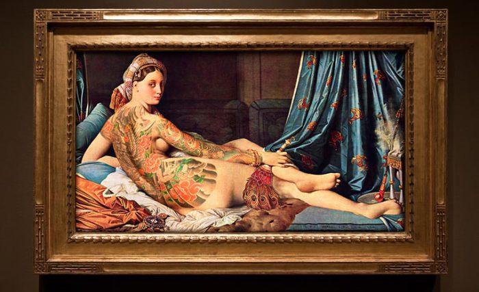 «Татуированная» живопись: забавный арт-микс от французского фотографа