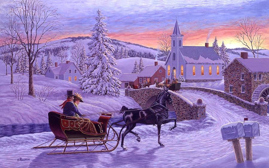 Зимняя сказка от канадского художника Richard de Wolfe