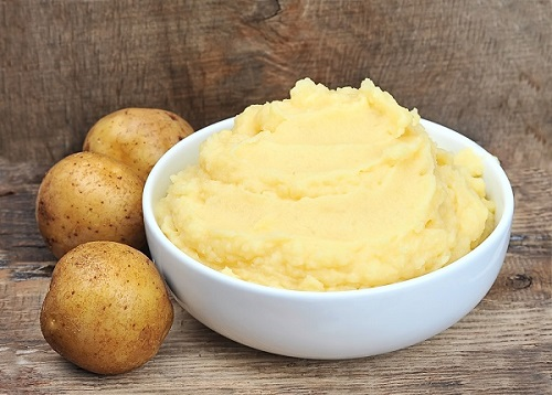 Mashed potatoes potato on the house