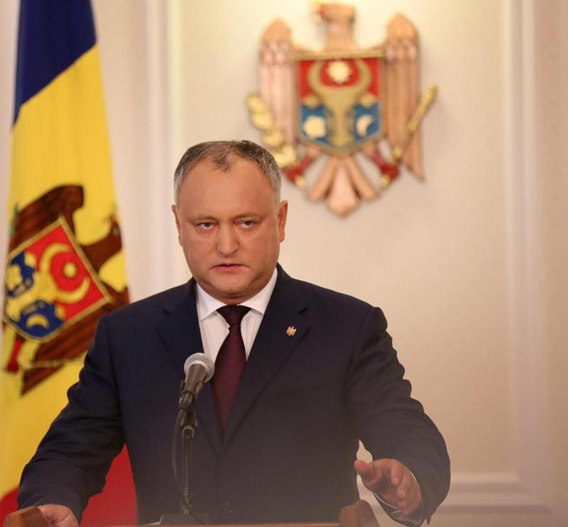 Додон поблагодарил Россию за взвешенную позицию после провокаций правительства Молдавии