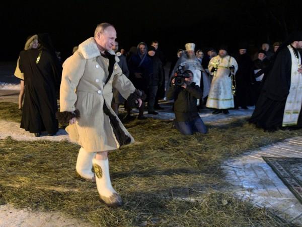 Валенки Путина помогли брита…