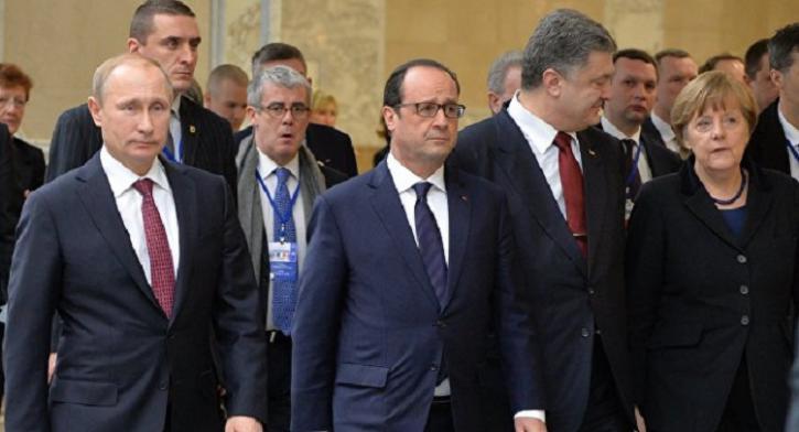 Владимир Путин в составе «нормандской четвёрки» обсудил ситуацию в Донбассе