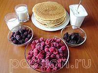 Блинный торт «Малиновый»