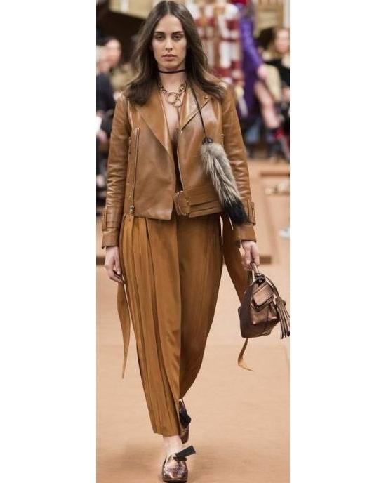 Тотал тренд 2018 : эффектные идеи с кожаной одеждой