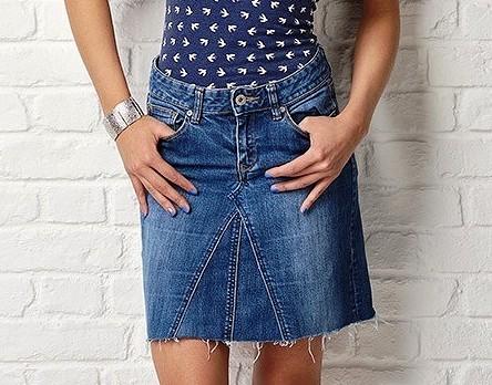 Как сшить юбку из джинсов — 3 МК  разной сложности