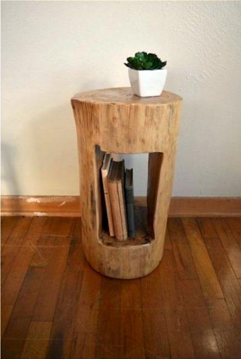 Тумба с местом для книг.