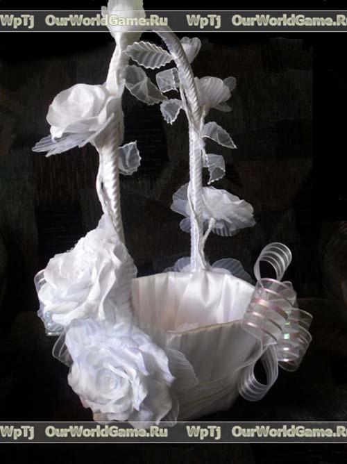 свадебная корзинка своими руками.