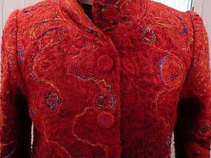 Изготовление деталей для пошива пальто в технике крейзи-вул
