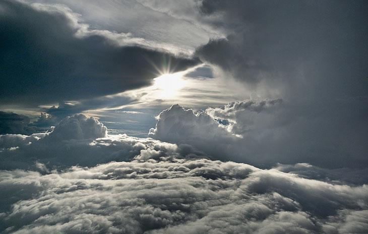 Фотографии облаков на высоте…