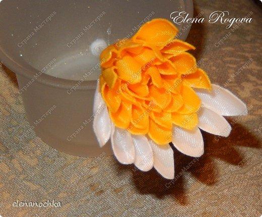 Хризантемы из лент своими руками с пошаговым