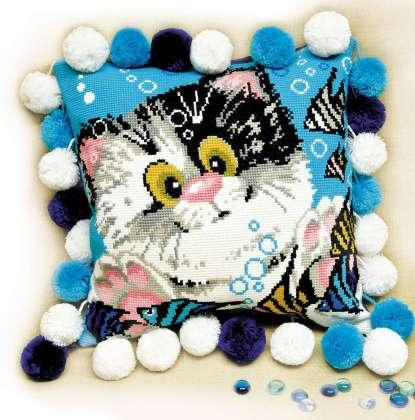 Вышивка «Подушка Котик»