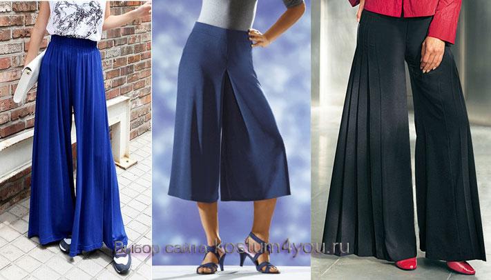 Как сшить юбку брюки летние