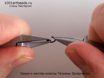 правильно раскрытое сединительное колечко