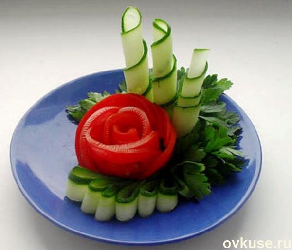 Красивая подача овощных нарезок