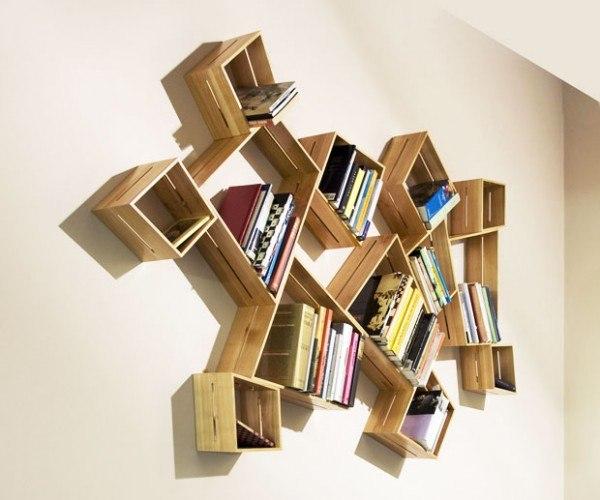 Полки для книг своими руками для дома