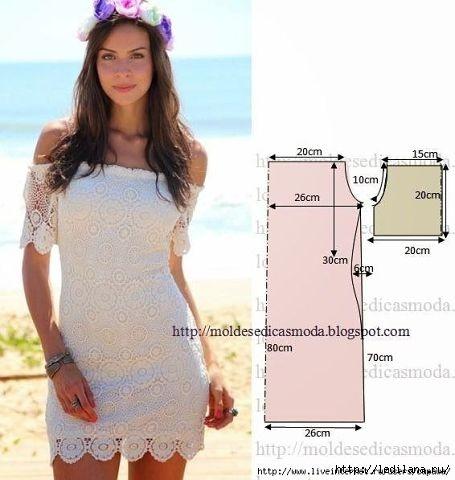 Выкройки летних платьев 3 (455x480, 95Kb)