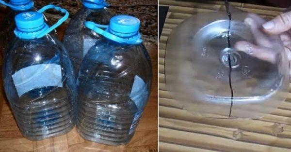 Творческая идея - сначала отрежь донышко пятилитровой бутылки, затем ее верхнюю часть, а потом возьми в руки газеты