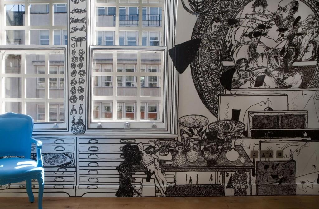 Рисунок на стене в квартире своими руками
