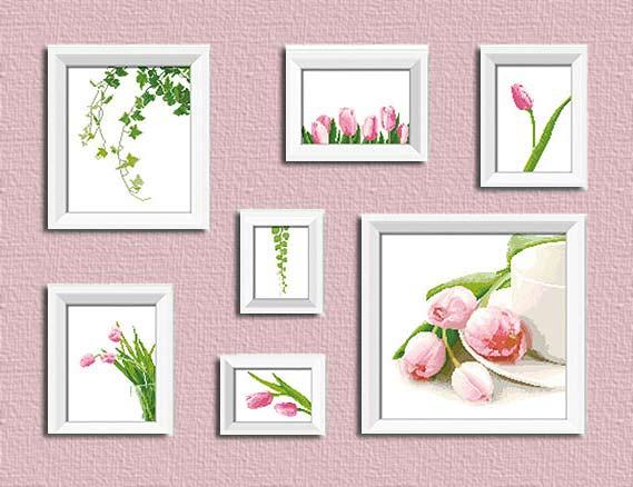 Схемы для вышивки красивых и нежных цветов — «Тюльпаны»