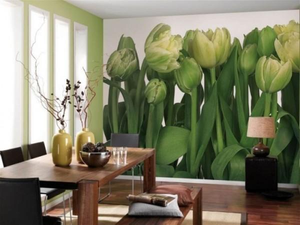 Растительные орнаменты на стенах. Фотообои