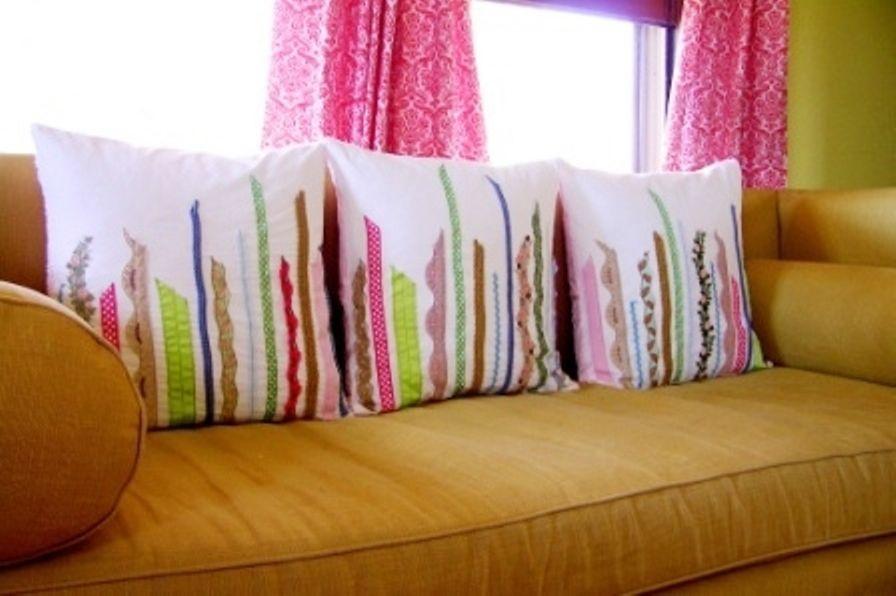 Подушечки своими руками на диван фото