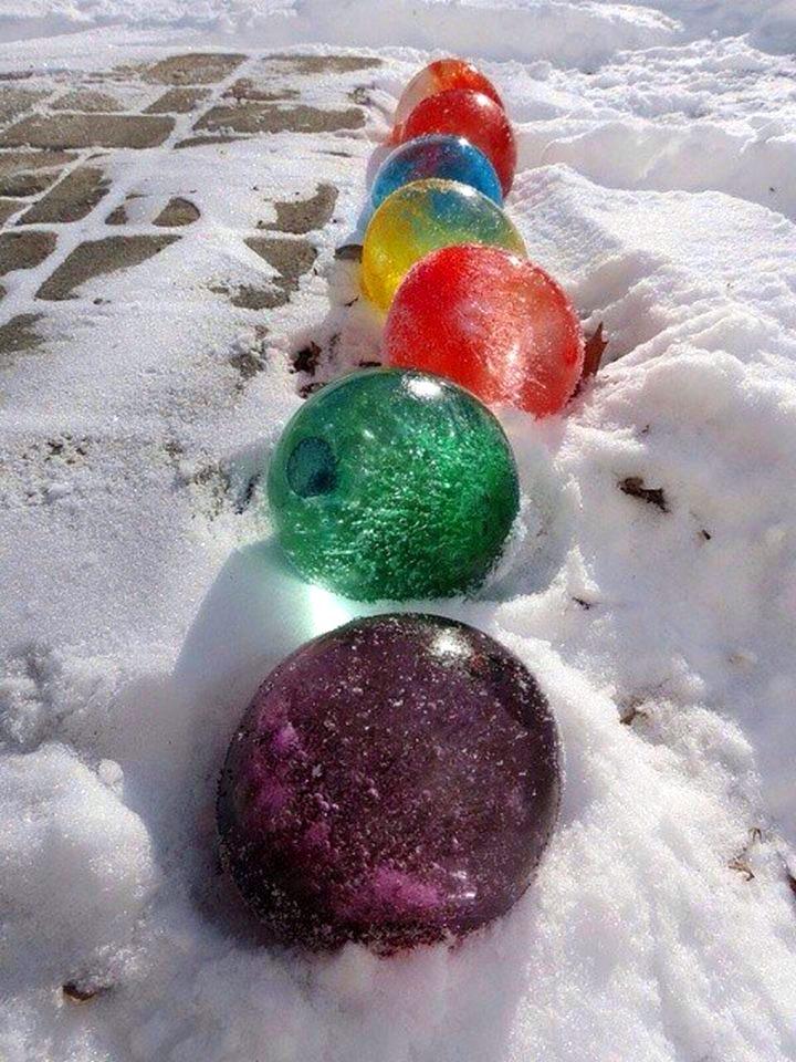 Цветные ледяные шары - просто, быстро, эффектно!