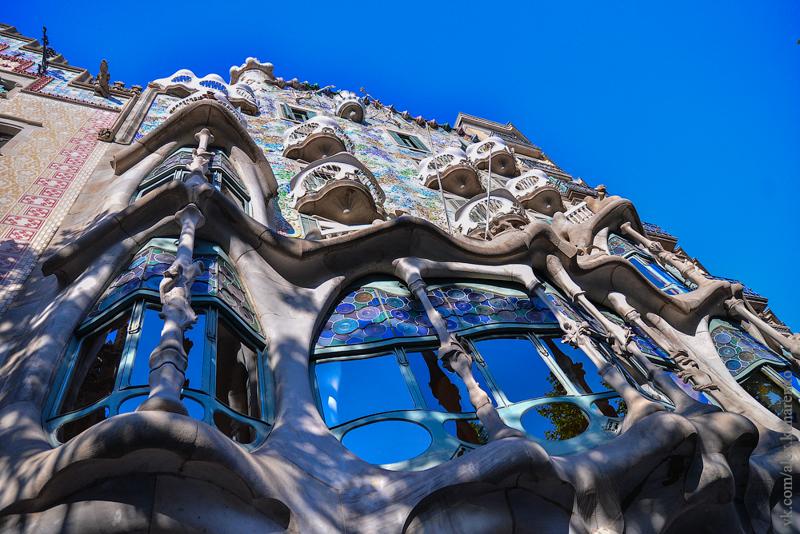 Испания. Барселона. Дом Гауди и смотровые