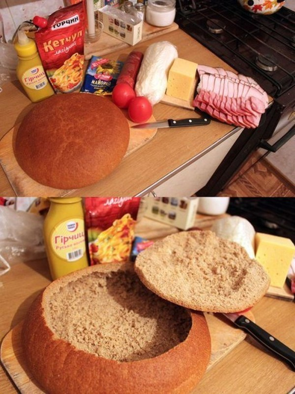 Аппетитный и сытный бутерброд для настоящих гурманов. Такой гениальной идеи я еще не встречала!