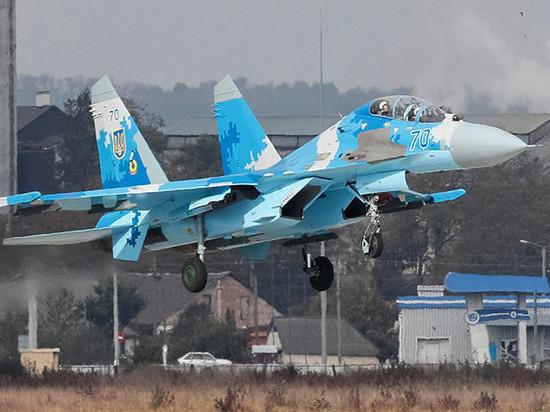Разбившийся на Украине Су-27…