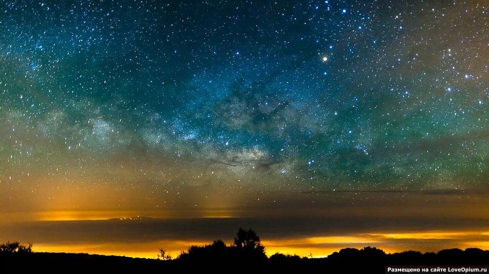Млечный путь с самой высокой точки Испании