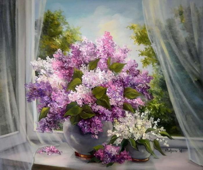 Цветочные натюрморты Anca Bulgaru