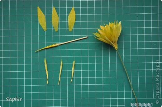Поделка изделие Бумагопластика цветы из гофробумаги  мастер-класс Бумага гофрированная фото 6