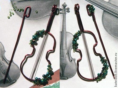 Музыкальная брошка