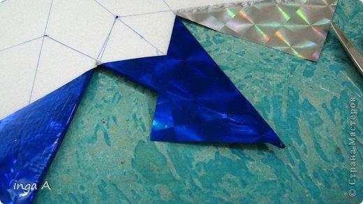 Мастер-класс Поделка изделие Новый год Моделирование конструирование Быстрое эффектное яркое украшение для Нового года Пенопласт фото 10