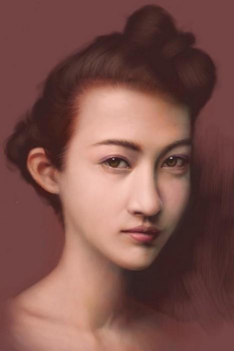 Портреты нарисованые пальцем на iPod(e)