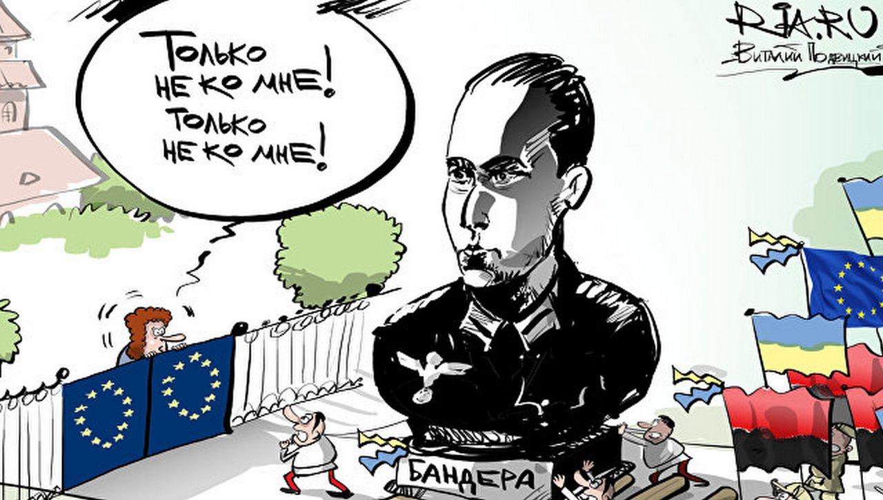 Польша срывает евроинтеграцию Украины под красно-черными флагами бандеровского фашизма