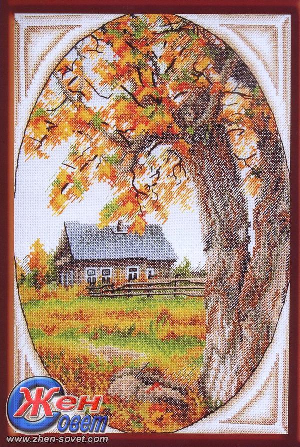 "Схема вышивки ""Осенний пейзаж"""