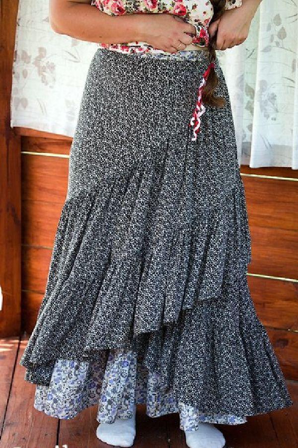 Как быстро сшить летнюю длинную юбку своими руками